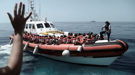 Migrants de l'Aquarius, le 12 juin 2018, photo ©SOS Méditerranée/Reuters