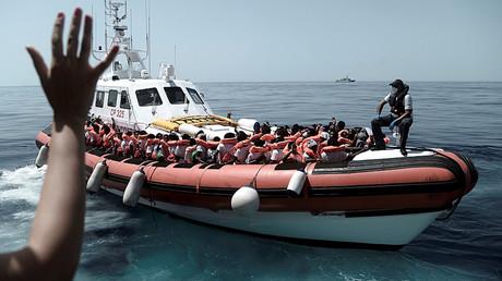 Migrants de l'Aquarius, le 12 juin 2018, photo ©SOS Méditerranée/Reuters
