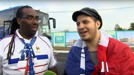 «On a une image fermée des Russes, c'est pas le cas !»: témoignages de supporters français (VIDEO)