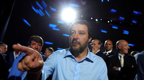 Matteo Salvini, le ministre de l'Intérieur italien, le 7 juin 2018