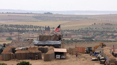 Base américaine à Minbej, photo ©Rodi Said/Reuters