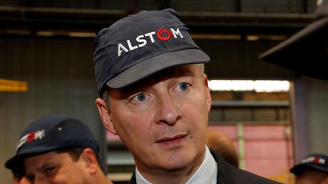 Le ministre français de l'Economie et des Finances, Bruno Le Maire, lors d'une visite à l'usine d'Alstom à Belfort en octobre 2017 (illustration).