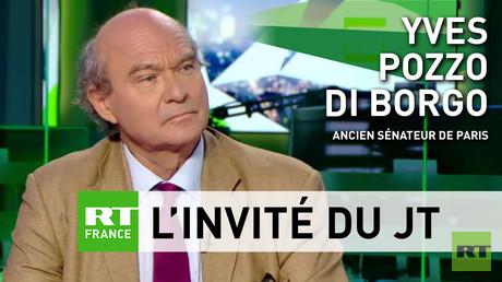 Yves Pozzo Di Borgo sur le plateau de RT France le 17 juin 2018.