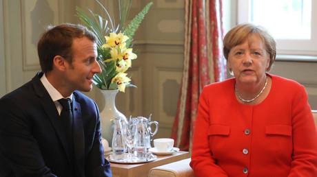 Emmanuel Macron et Angela Merkel, le 19 juin 2018, photo ©Ludovic MARIN / AFP