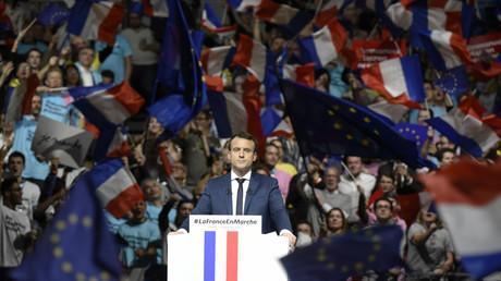 Emmanuel Macron en meeting au Palais des Sports de Lyon le 4 février 2017.