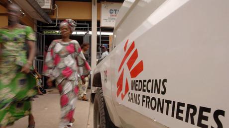 Médecins sans Frontières à Kinshasa en 2005. images d'illustration.