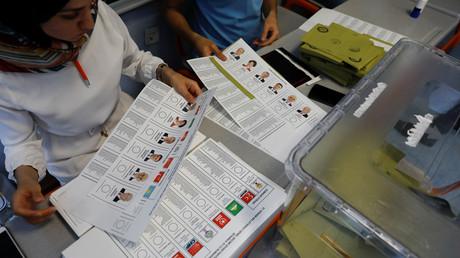 Illustration : un bureau de vote le jour de l'élection présidentielle en Turquie, le 24 juin 2016