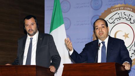 Matteo Salvini en Libye toujours aussi déterminé à enrayer l'immigration illégale