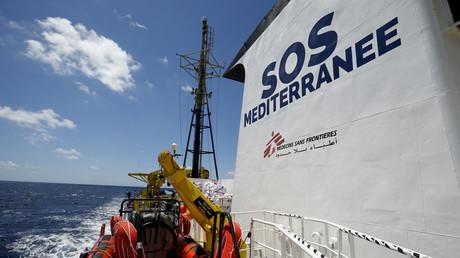 L'Aquarius de l'ONG SOS Mediterranée