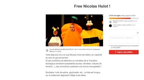Pétition des trois animateurs de France Inter pour exiger la libération de Nicolas Hulot.