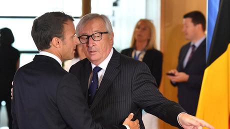 Emmanuel Macron et Jean-Claude Juncker au mini-sommet de Bruxelles, le 24 juin, illustration