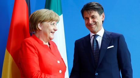 Angela Merkel et Guiseppe Conte, le 18 juin à Berlin, illustration