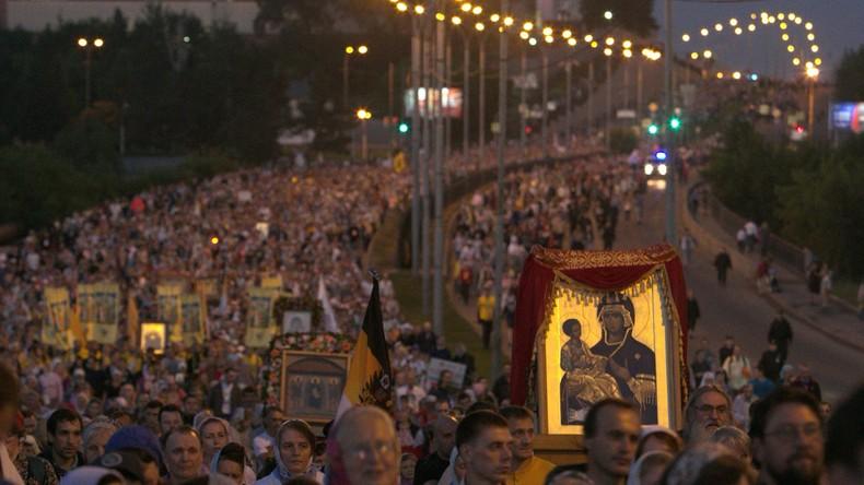 Russie : 100 000 personnes commémorent le centenaire de l'assassinat du dernier tsar Nicolas II