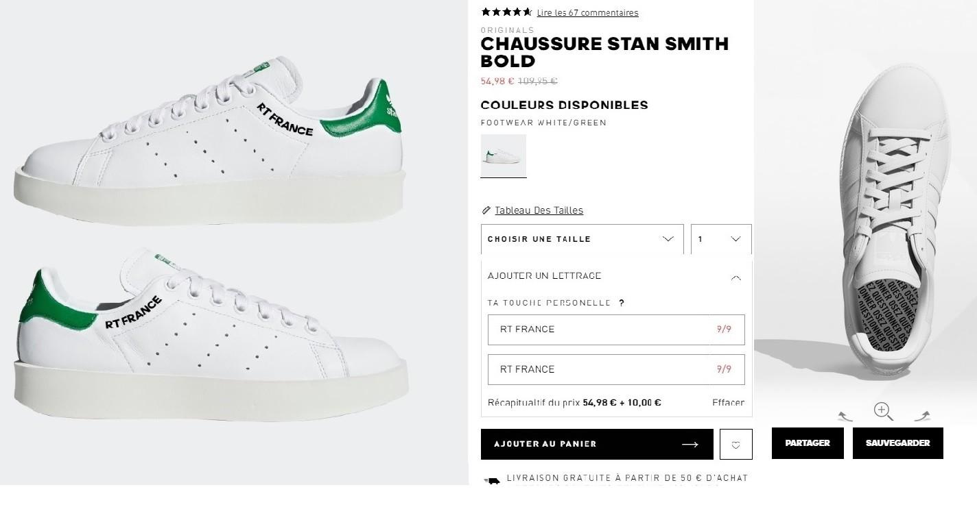 personnaliser chaussures adidas