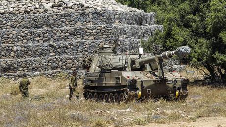 Des soldats israéliens sur le plateau du Golan