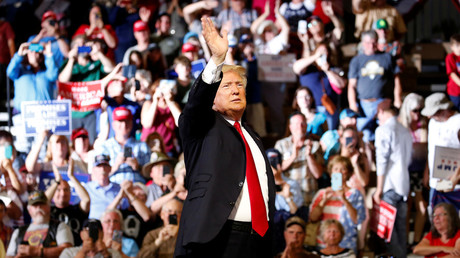 Donald Trump lors d'un meeting à Great Falls au Montana, le 5 juillet