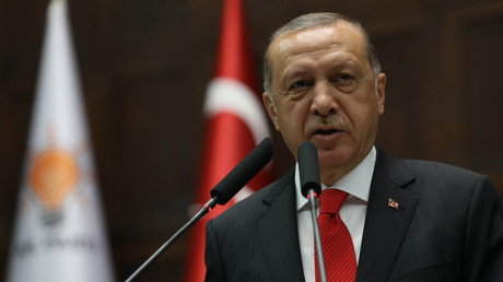Le président Recep Tayyip Erdogan le 7 juillet 2017 à Ankara (image d'illustration)