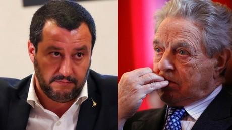 Illustration : Matteo Salvini (gauche) / George Soros (droite)