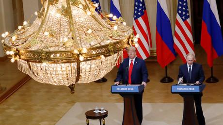 Donald Trump et Vladimir Poutine à Helsinki, le 16 juillet 2018