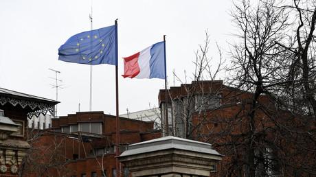 L'immeuble de l'ambassade de France à Moscou.