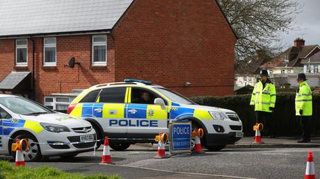 Des agents de la police britannique à Salisbury en Grande-Bretagne le 3 avril 2018 (image d'illustration).