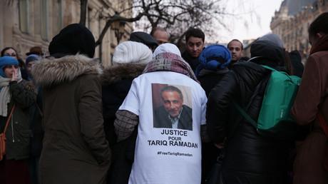 Soutiens de Tariq Ramadan en février 2018