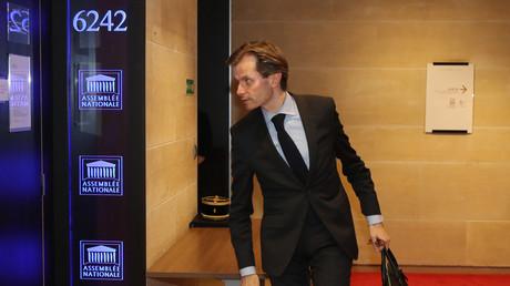 Le député LR Guillaume Larrivé à l'Assemblée pour les auditions de l'affaire Benalla le 23 juillet 2018.