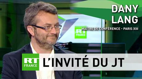 Dany Lang, maître de conférences en économie, lors de son passage sur le plateau de RT France, le 25 juillet 2018