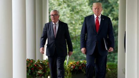 Gaz, acier, soja : Jean-Claude Juncker et Donald Trump annoncent leur feuille de route