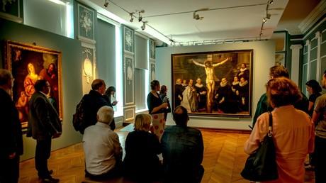 Des peintures exposées au musée de Flandre à Cassel, dans le nord de la France/Image d'illustration