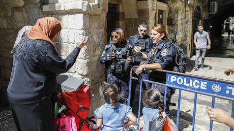 Fermeture de la Mosquée al-Aqsa à Jérusalem le 27 juillet 2018, photo ©Ahmad GHARABLI / AFP