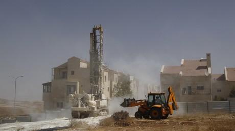 Une maison en construction dans la colonie israélienne d'Adam, près de Ramallah, en 2010 (illustration)
