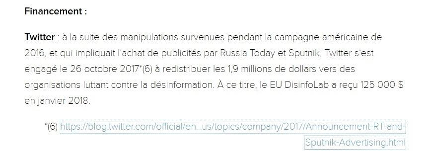 Comment Twitter a financé EU Disinfolab avec l'argent de RT