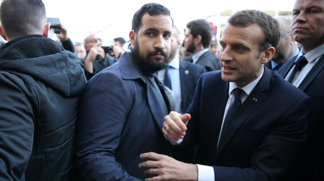 Alexandre Benalla et Emmanuel Macron le 24 février 2018