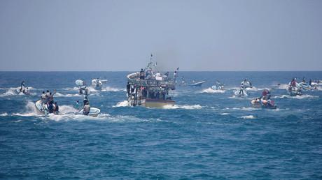 Une flotille de bateaux tentant de percer le blocus israélien sur Gaza, le 29 mai 2018 (image d'illustration).