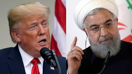 Les présidents américain Donald Trump et iranien Hassan Rohani.