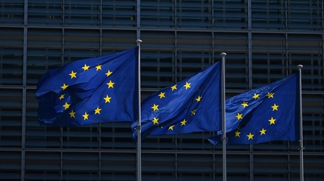 Des drapeaux de l'Union européenne à Bruxelles (illustration).