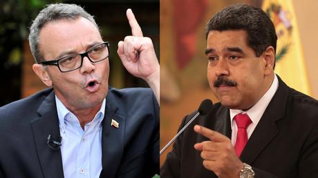 A gauche : Salvatore Lucchese, militant de l'opposition vénézuélienne lors d'une interview accordée à Reuters à Bogota, en Colombie, le 6 août 2018. A droite : Nicolas Maduro (illustration).