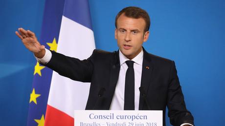 Emmanuel Macron, à Bruxelles, en juin 2018.