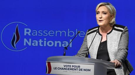 Marine Le Pen lors du discours de changement de nom le 1er juin à Lyon (image d'illustration).