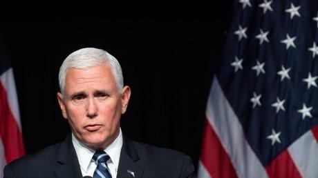 Le vice-président des Etats-Unis Mike Pence, lors de son discours sur la création de la force spatiale américaine, le 9 août 2018.