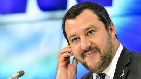 Le ministre italien de l'Intérieur, Matteo Salvini, le 16 juillet 2018 à Moscou (image d'illustration).