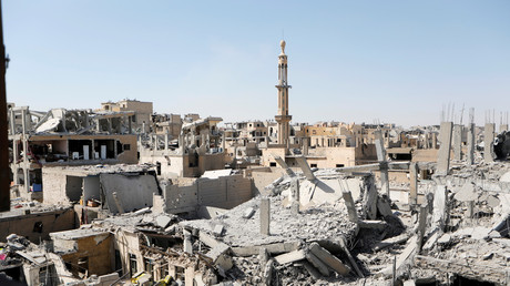Le vieux quartier de Raqqa en Syrie, lors de la bataille pour la prise de la ville en 2017 entre l'Etat Islamique et les forces syriennes (image d'illustration).