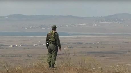 Illustration : un militaire sur le plateau du Golan