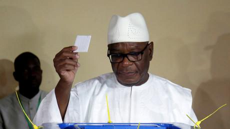 Ibrahim Boubacar Keïta aux urnes le 12 août à Bamako  (illustration).