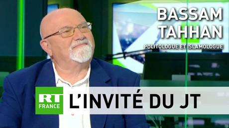 Le politologue Bassam Tahhan sur le plateau de RT France, le 20 août 2018.