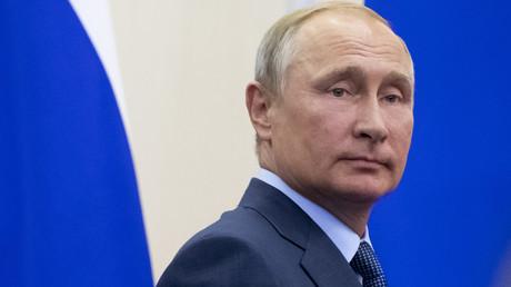 Vladimir Poutine le 22 août 2018 à Sotchi