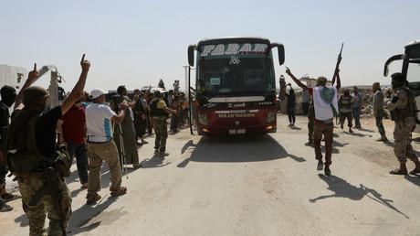 Les djihadistes d'Hayat Tahrir al-Sham à Al-Eis.