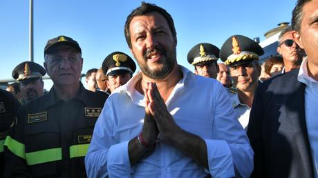Le ministre italien de l'Intérieur, Matteo Salvini, à Gênes le 15 août 2018 (image d'illustration).