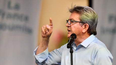 Jean-Luc Mélenchon a tenu un discours devant ses partisans à Marseille, lors des universités d'été (Amphis) de la France insoumise